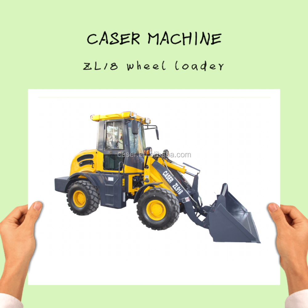 CE ZL16 4WD wheel loader with electronic joystick