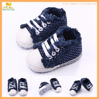 New design dot canvas anti-slip baby sport shoes infant shoes