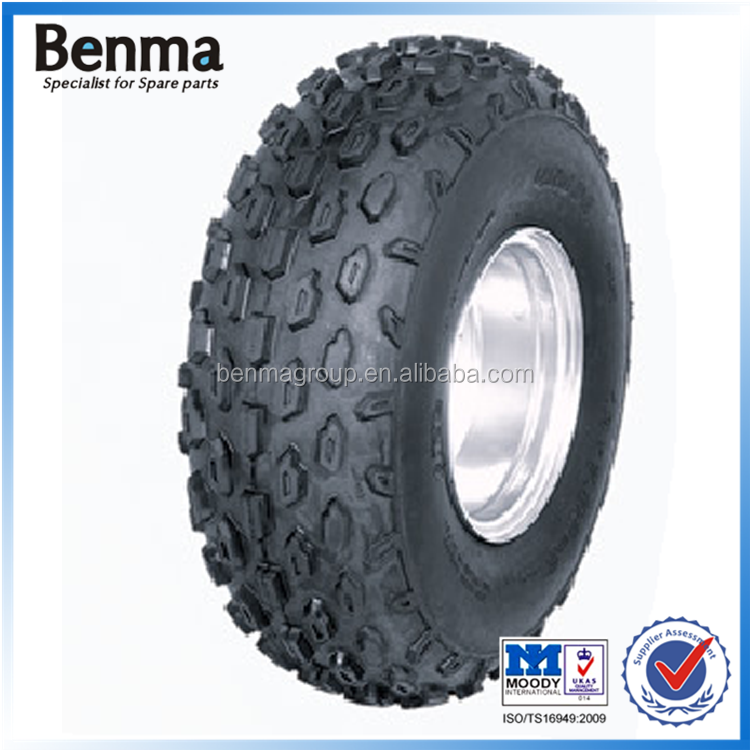 Comfortable 19*7.00-8 atv tire front wheel fit for chad,land waste,and breakstone road riding