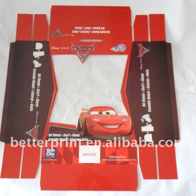 scarf, clothes packaging paper boxes printing service with PVC window