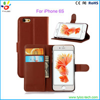 2016 Universal PU leather cell phone wallet case for Iphone 6 credit card case with stand
