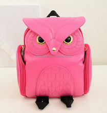 Cute Style Leather 3D Owl Shaped School Backpack Satchel Bag Rucksack Knapsack For Ladies Girls
