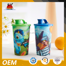 3D Lenticular Plastic Drinking Cup With Lid and Straw