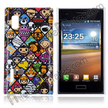 Wholesale IMD Craft Hard Plastic Case Artistic Printed For LG E612 Optimus L5, Stylish Design Cover for LG E612