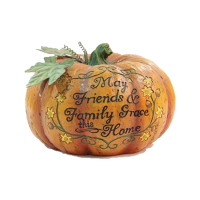 Wholesale wood cutting finish polyresin fat pumpkins