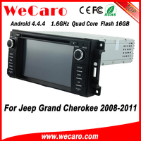 Wecaro WC-JC6235 Android 4.4.4 car dvd player touch screen for jeep grand cherokee 2 din car dvd player 2008 - 2011 bluetooth