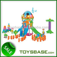 Musical and lighting plastic childrens building blocks
