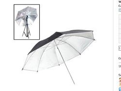 33 inch Flash Light Soft Diffuser Umbrella(Black)