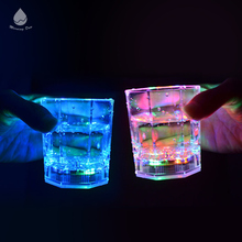 Hot Sale flashing water sensor plastic wine Led cup