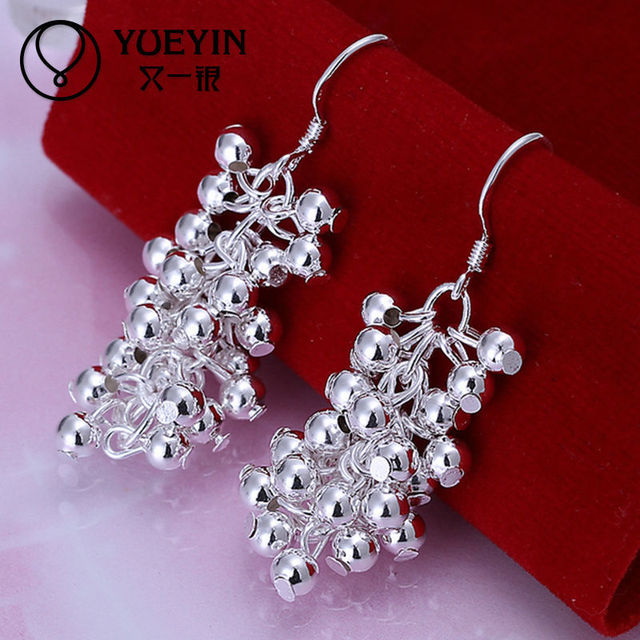 Wholesale Factory direct selling fashion silver jewelry grape pearl beads earrings