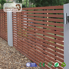 outdoor wood plastic composite rail slat fence