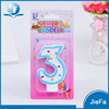 2017 birthday party number candle set,0-9 wax party number candle