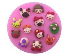 Factory Wholesale Multiple Styles 3d Cartoon Animals Shaped Silicone Cake Tools Soap Molds