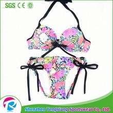 2017 New Style Pretty Young Leafs Girls Beautiful Sexi Open Bikini