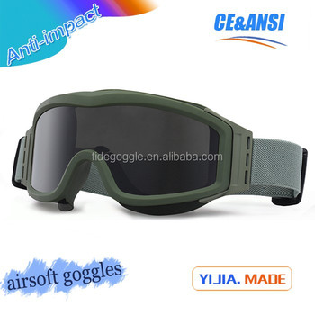 manufacturer high impact pc lens anti fog uv400 military tactical goggle,wholesale airsoft goggle,safety ballistic goggle
