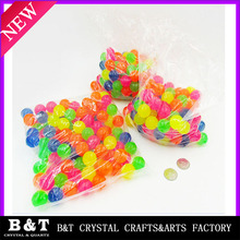 Wholesale Kids Toy Promotional Rubber Bounce Ball colorful 22mm bouncing balls
