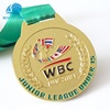 Custom Sport gold metal award high quality medal with customized ribbon