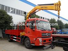 China manufacturer Dongfeng Tianjin 4*2 folding arm hydraulic truck crane for sale