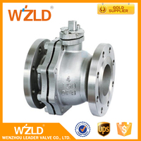 WZLD API 608 High Pressure Pneumatic Floating Type Bore Cast Steel Flange End Ball Valve