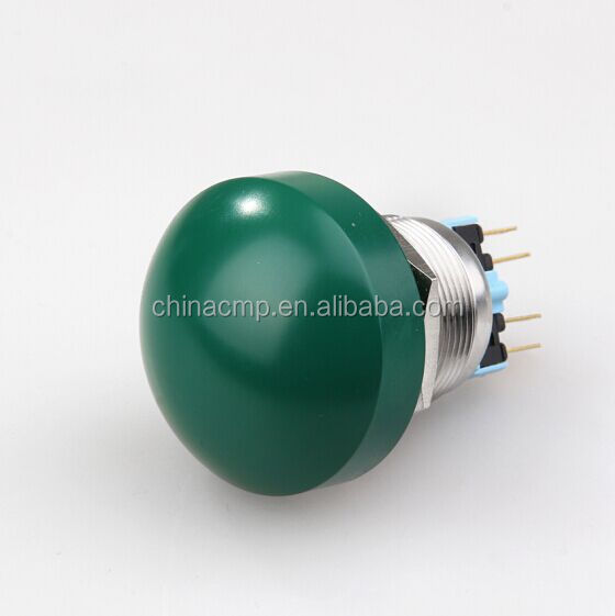 CMP 22mm momentary or latching waterproof green mushroom head push button switch emergency stop