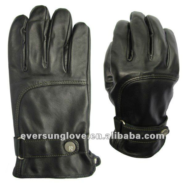 mens fashion calf skin gloves