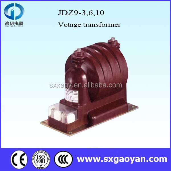 10kV indoor epoxy resin casting type voltage transformer for JDZ(X)9-3,6,10Q