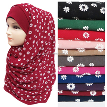 Best-Selling Bubble Chiffon Floral Puff Print Woman Muslim Hijab Shawl 160*70cm