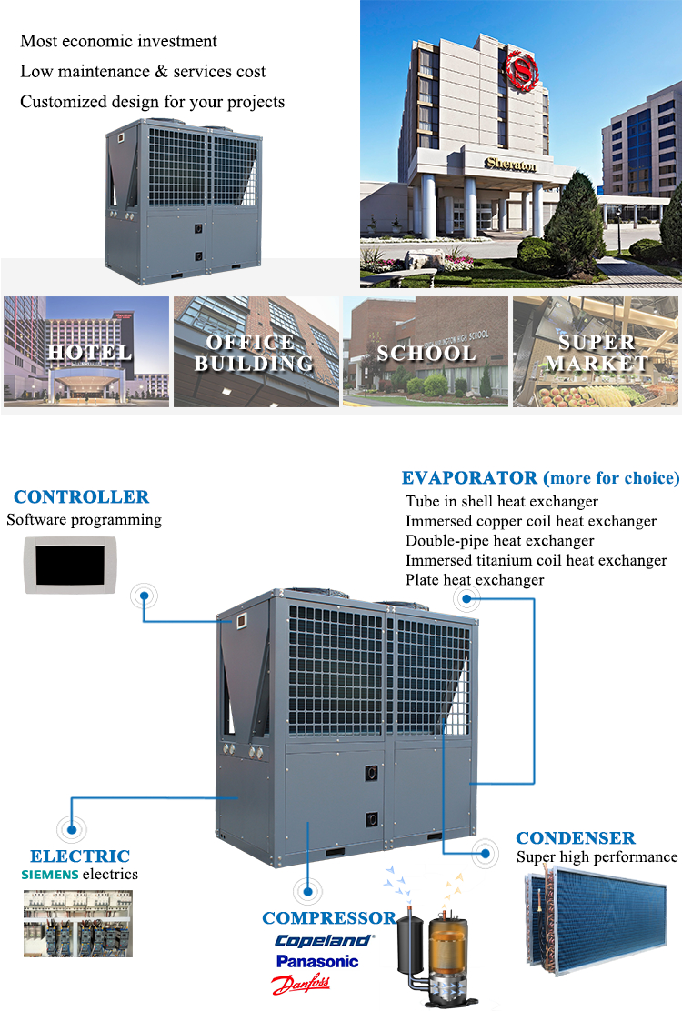 Altaqua 10 ton 30 kw air cooled water chiller price for free cooling