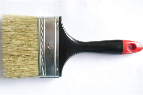 Plastic handle with red end bristle hair paint brush guangzhou
