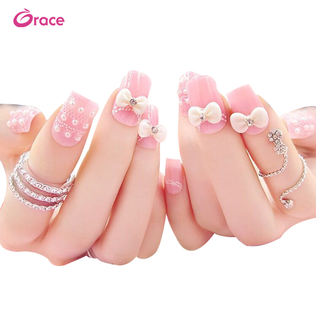 <strong>A03</strong> Japanese nail art <strong>designs</strong> bride false nails