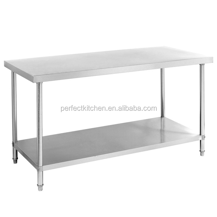 304 Stainless Steel Restaurant Work Bench / Customized Stainless Steel Kitchen Work Table