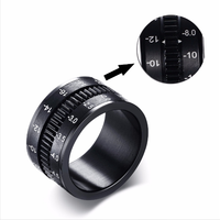 Wholesales 2017 Hot Sale Mens Rings in Black Titanium Steel