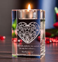 crystal romantic candleholder for hotel