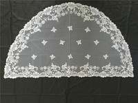 European antique traditional style noble classic lace embroidery veil chapel veil cathedral veil