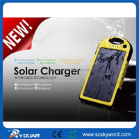 Mobile phone accessory YD-T011 solar charger with ac wall socket
