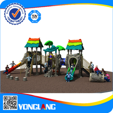 hot sale commercial outdoor plastic playground equipment big slides