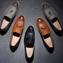 Latest brand design brogue style cheap genuine handmade leather shoes