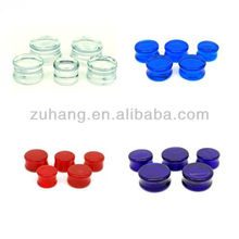 Jewelry Fashion Piercing Glass saddle Ear Plug Flesh Tunnels Body Jewelry