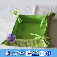 cotton linen fabric heated bread basket