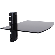 Best Selling Tempered Glass Set Top Box TV DVD Stand Mount Wall Bracket with Shelves TV and DVD Wall Mount