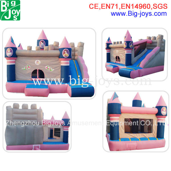 Girls pink combo inflatables games inflatable bouncy slide