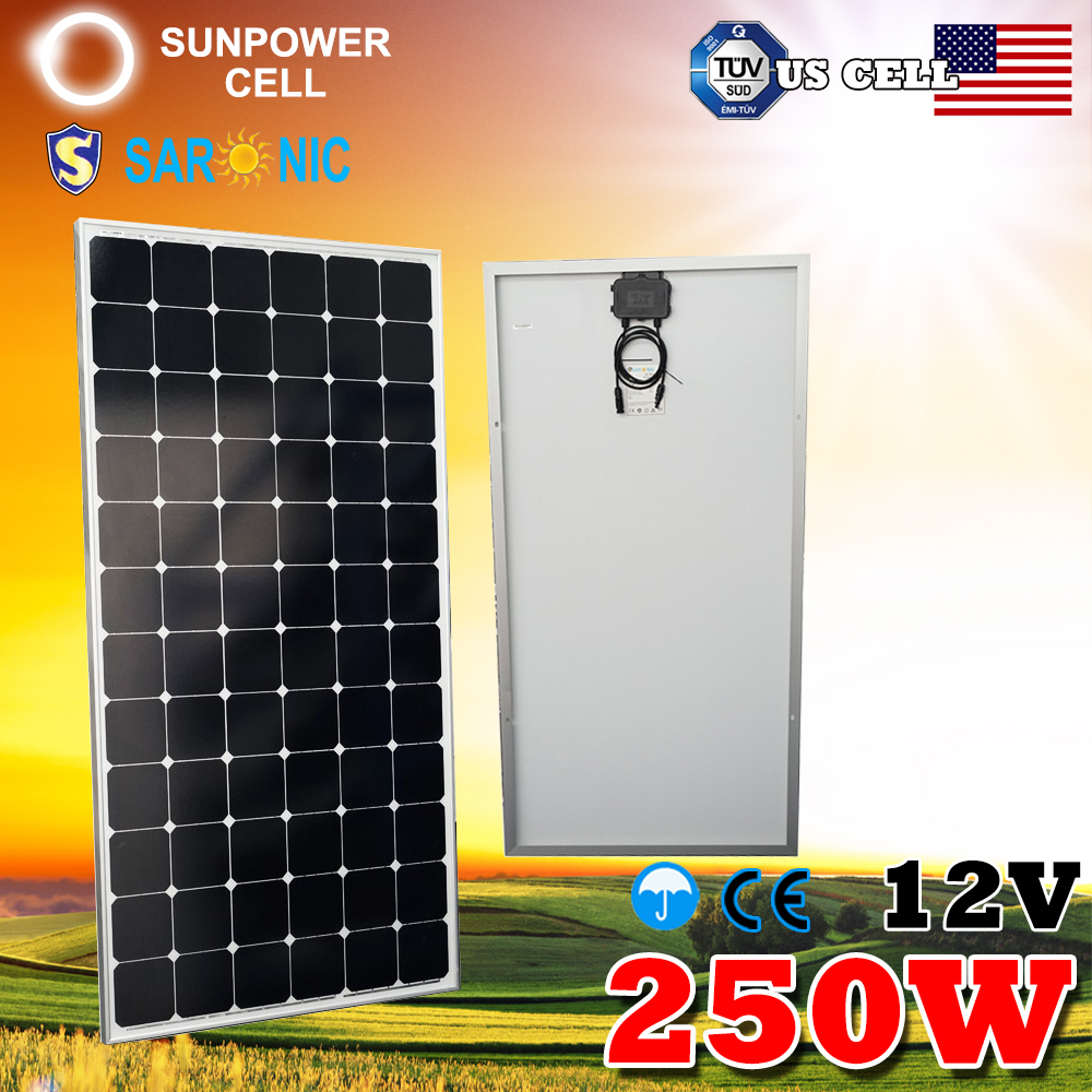 12V Battery Off Grid Monocrystalline 300W Sunpower Solar Panel