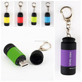 Mini Keychain Pocket Torch USB Rechargeable LED Light Flashlight Lamp