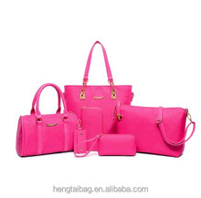 wholesale designer handbag 5set handbag pvc women bags