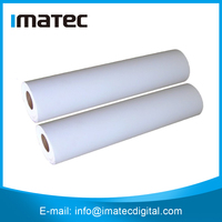 Wholesale 110gsm Stretched Polyester Matte Canvas Roll,Waterproof Poly Canvas Fabric