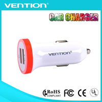 Vention 3.1A mini bullet dual usb 2-port car charger adaptor