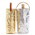 shopping metallic wine bag, washable paper wine cooler bag