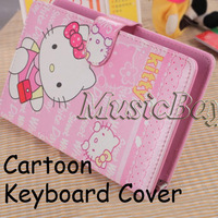 colorful cartoon keyboard cover for tablets support russian,spanish ,azerty,arabic ect layout