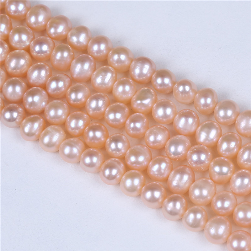 6-7mm A Grade Pink Pearl Freshwater Pearl Strand loose seed pearls