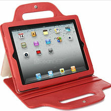 handbag stand style pu protective leather case for ipad 4 3 2